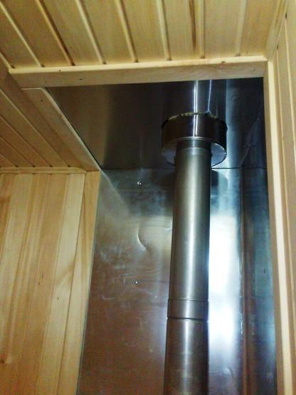Облицовка вагонкой внутри бани. Отделочные работы
